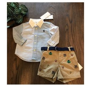 RALPH LAUREN BABY TWO PIECE SET